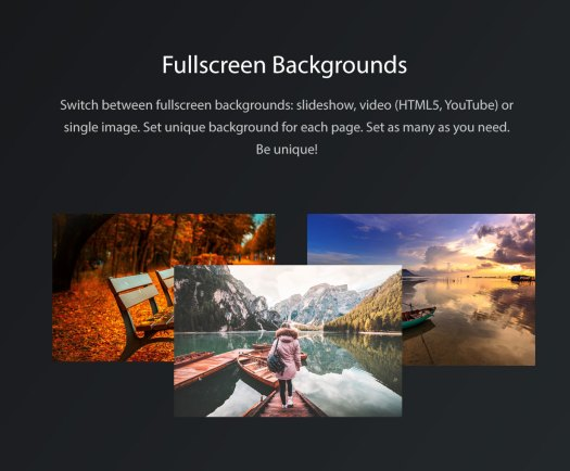 Vernissage WordPress Background Settings