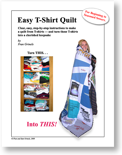 T Shirt Quilt Directions