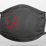Hearts With Initials Face Covering (Add Your Own Initials)