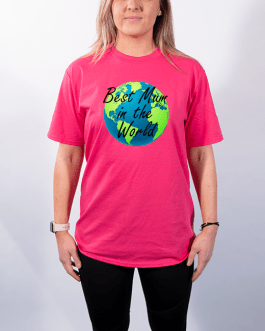 Best Mum In The World with Globe – Premium T-Shirt or Hoodie