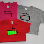 Family Matching T-Shirt (1 x Adult & 1 x Child Premium T) – Low Battery