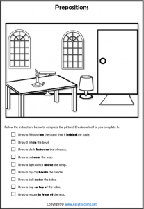 Preposition Worksheets And Prepositional Phrases