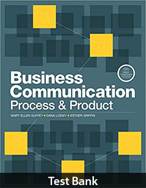 Business Communication Process & Product Brief 6th Brief Edition Test Bank By Guffey
