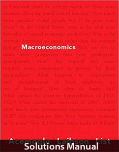 Macroeconomics 1st Edition Solutions Manual by Acemoglu