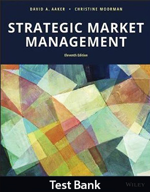 Strategic Market Management 11th Edition Test Bank By David A Aaker