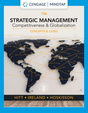 Strategic Management Competitiveness and Globalization 13th Edition Solutions Manual By Hitt