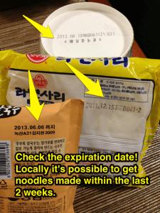 Ramen Expire Dates