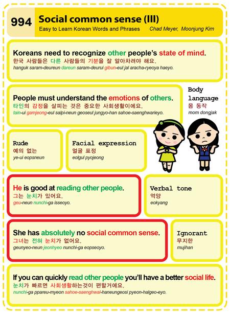 994-Social Common Sense 3 | Easy to Learn Korean (ETLK)
