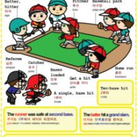 Easy to Learn Korean 1464 - Baseball - Attend and watch a game.
