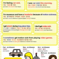 Easy to Learn Korean 1481 - Motion sickness.