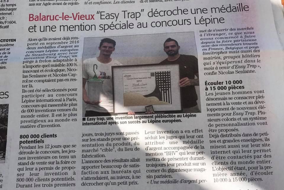 Article gagnant concours Lépine