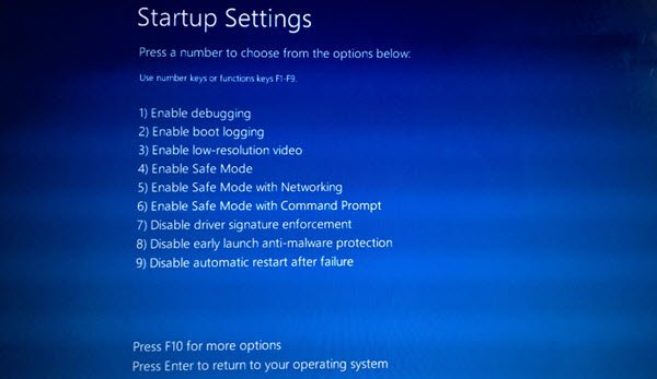 Boot into Safe Mode with Networking