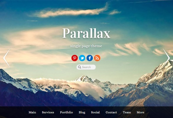Themify-Parallax-theme-frontpage