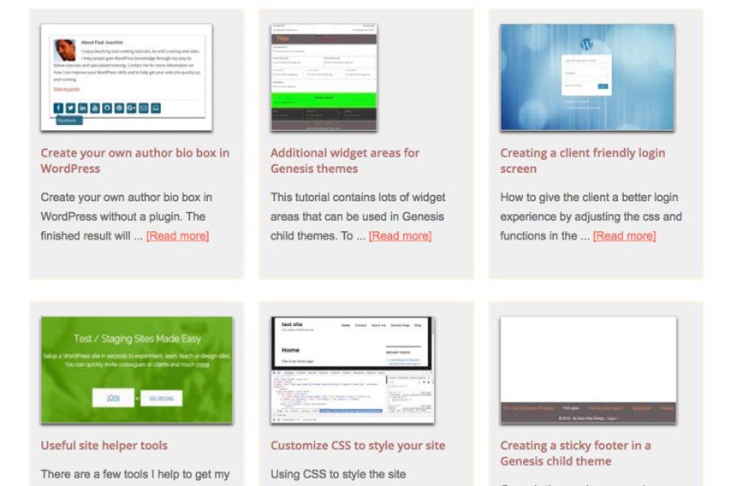 Thumbnail blog post previews in WordPress