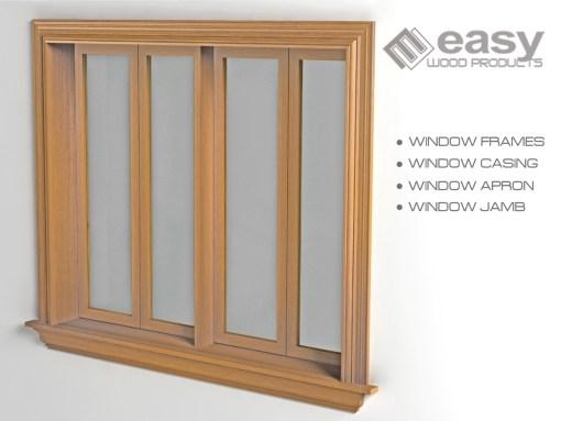 WINDOW FRAME, JAMB, CASING, APRON