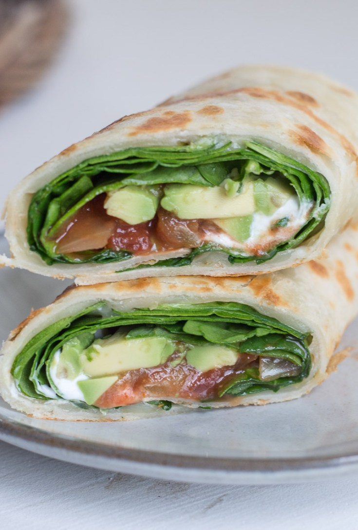 Avocado Veggie Wrap