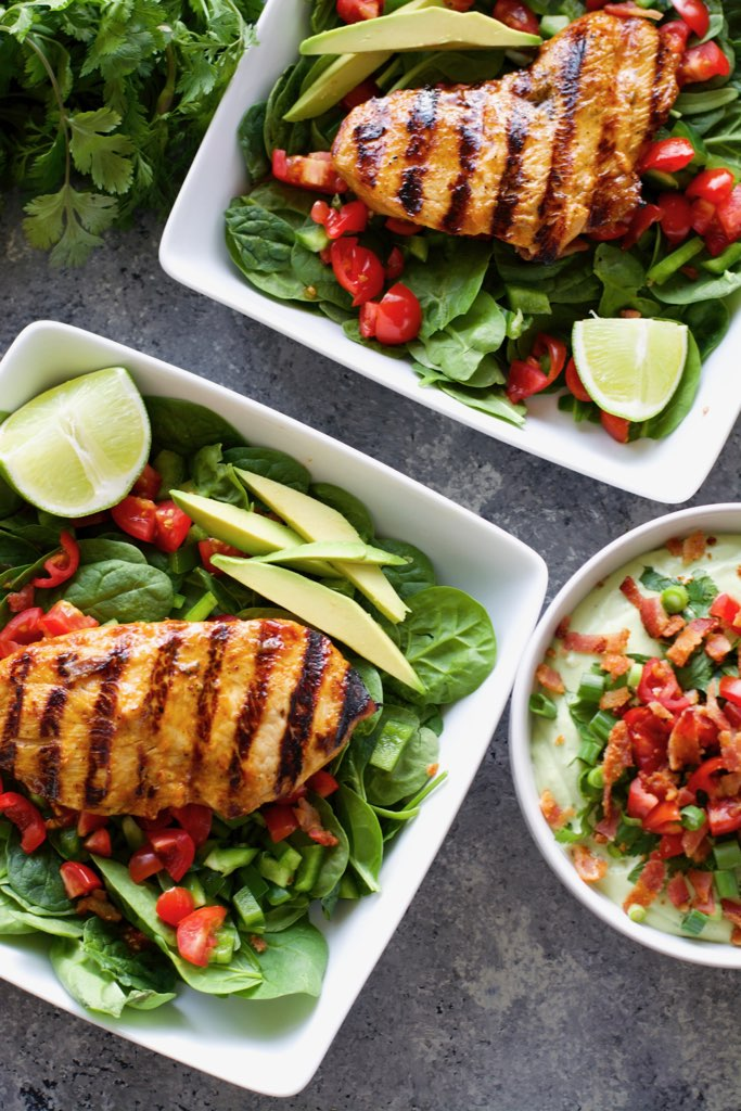 This Easy Grilled Chipotle Chicken is a quick and easy summer dish! This grilled chicken recipe is perfect for easy wraps, salads or meal prep!