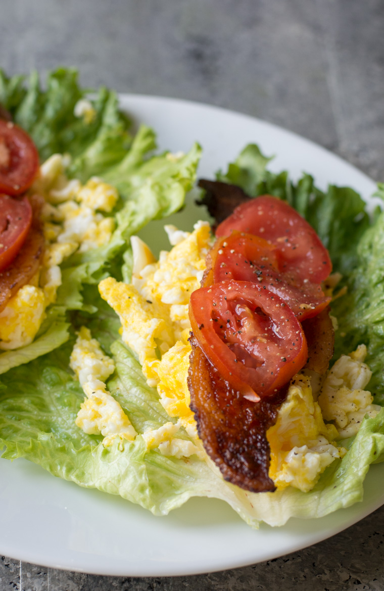 These BLT Egg Wraps are quick, easy and perfect for a low carb keto friendly breakfast!