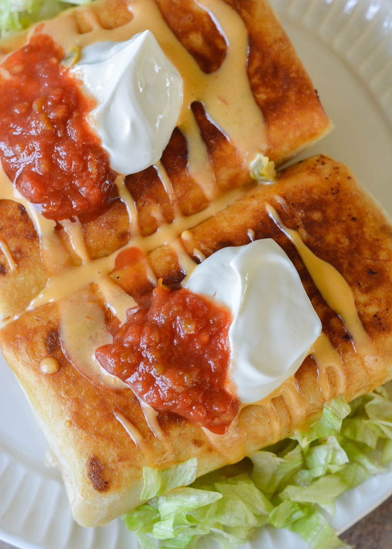 Looking for Keto Mexican Recipes? These Chicken Chimichangas are the perfect low carb, gluten-free option!