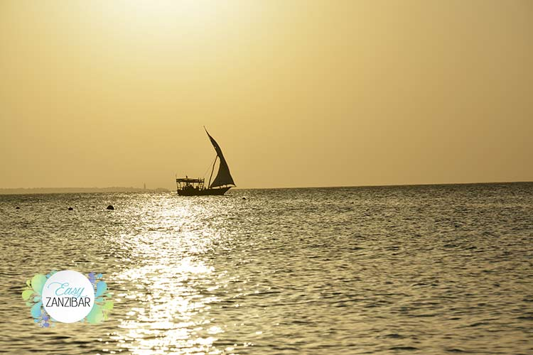 tramonto sul mare di nungwi