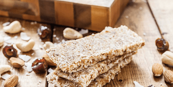 Energy bars, such as these (from ThriveForward.com) made with dates are great for functional fuel.