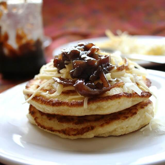 Gluten free nut free paleo american pancake recipe for sweet and savoury toppings