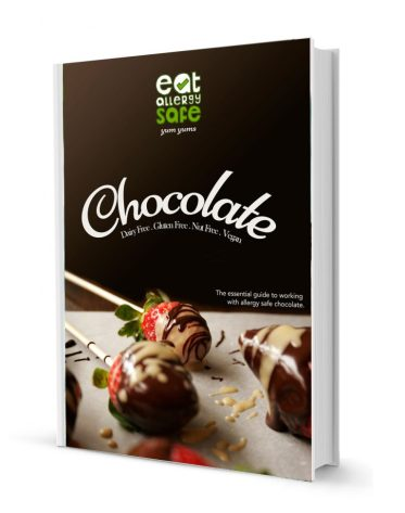 Sign up now: Learn how to work with dairy free and vegan chocolate in our FREE Eat Allergy Safe Essential Guide! 10+ pages and includes TWO recipes!