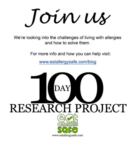 allergy challenge 100 day research project nina modak eat allergy safe