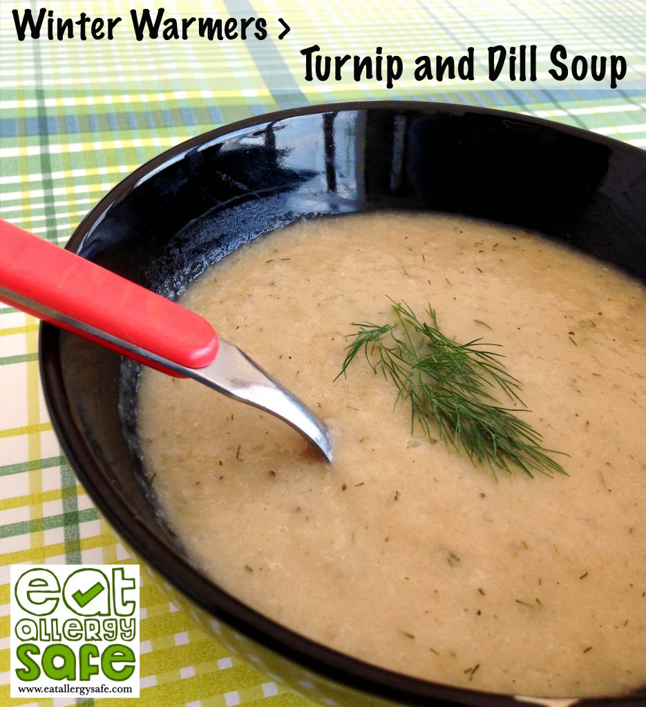 turnip and dill soup - gluten free dairy free egg free nut free paleo