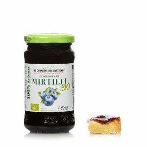 Compote biologique de myrtilles 250g