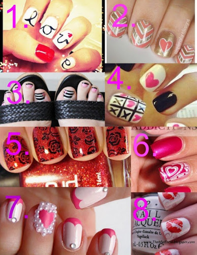 8 Nail Art Ideas For Valentines Day
