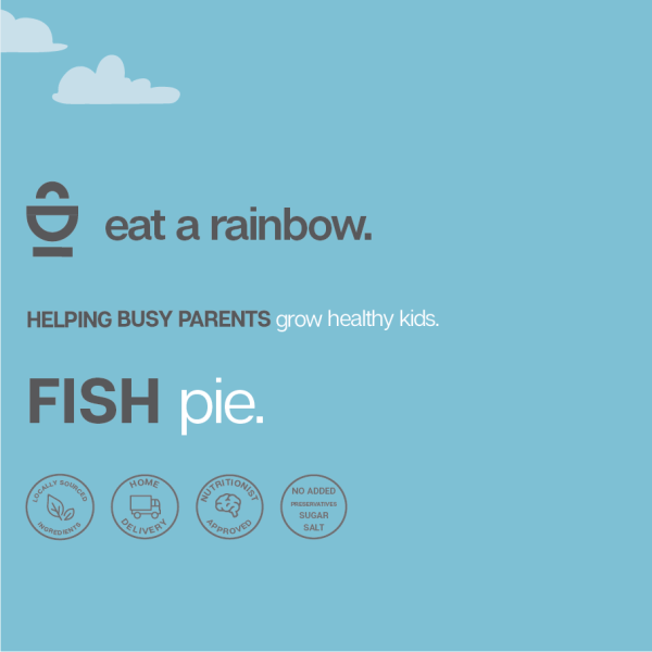 Fish Pie eat a rainbow packaging