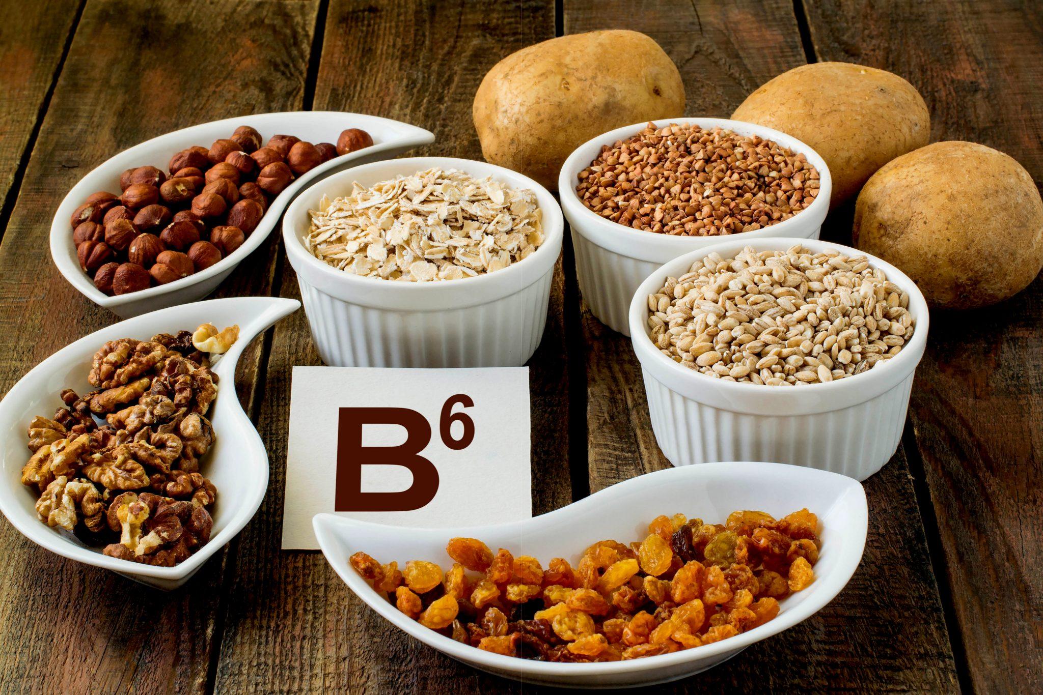 ビタミンB6を含む玄米など
