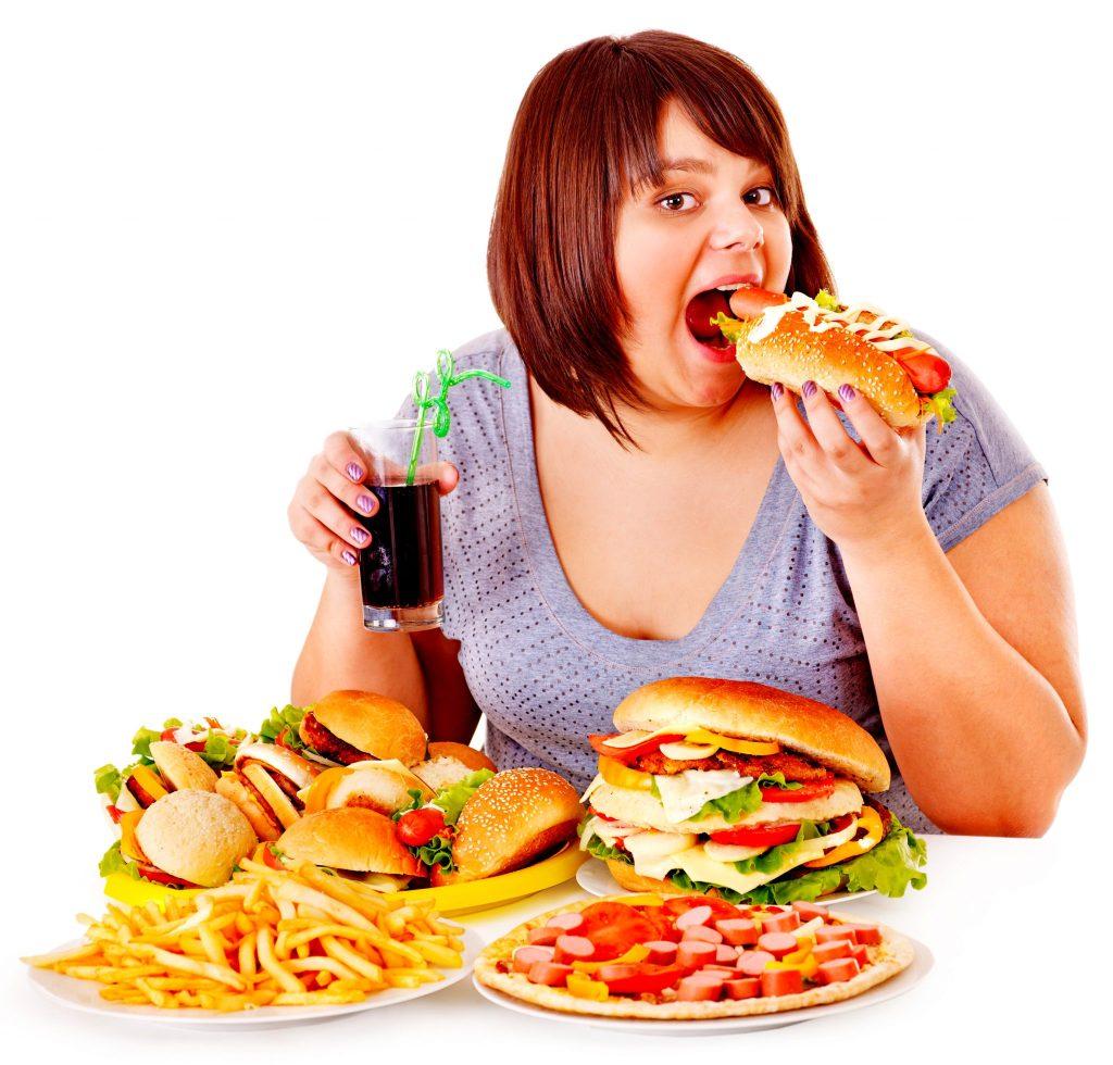 過食の女性