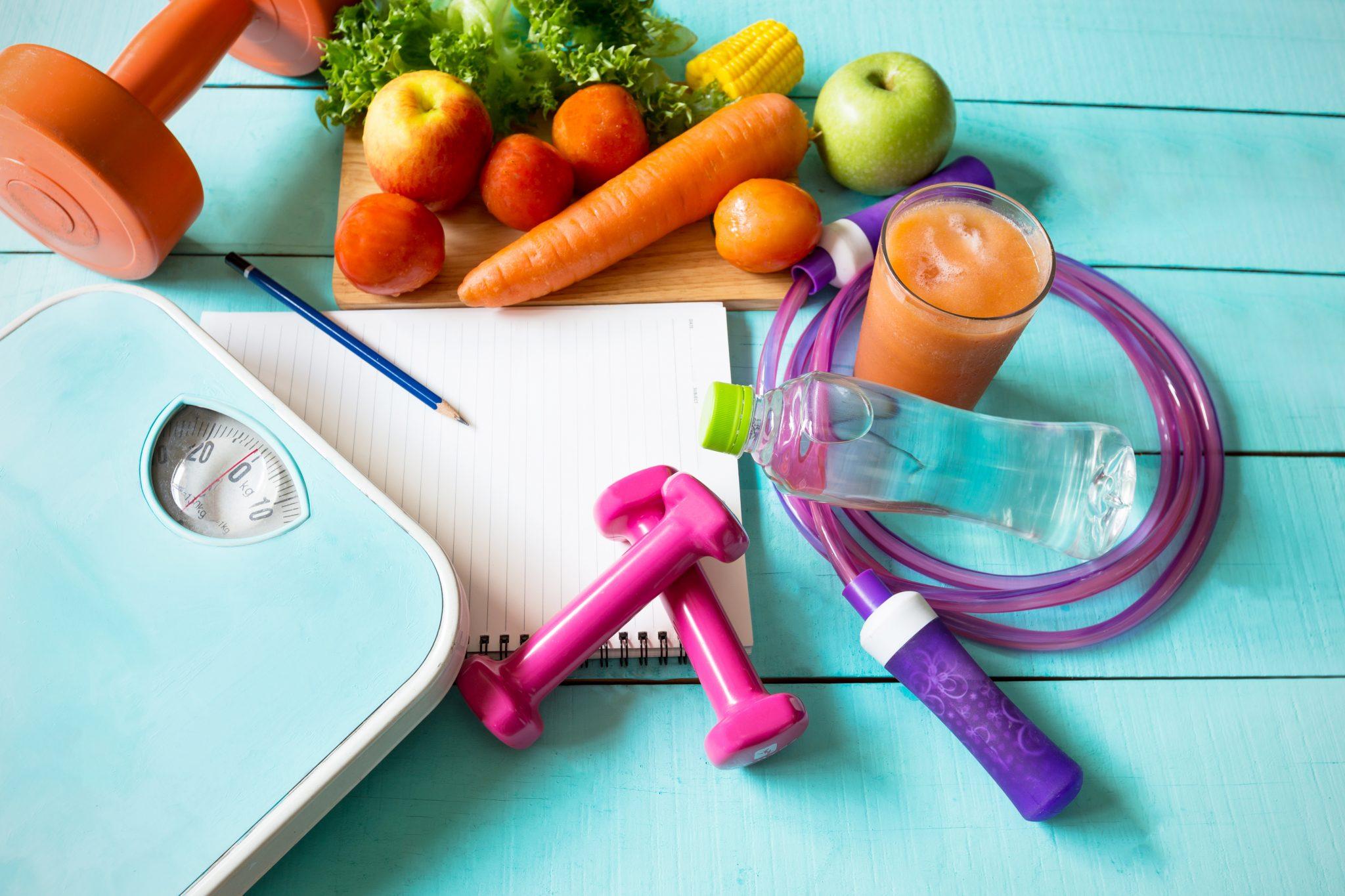 ダイエット器具と野菜
