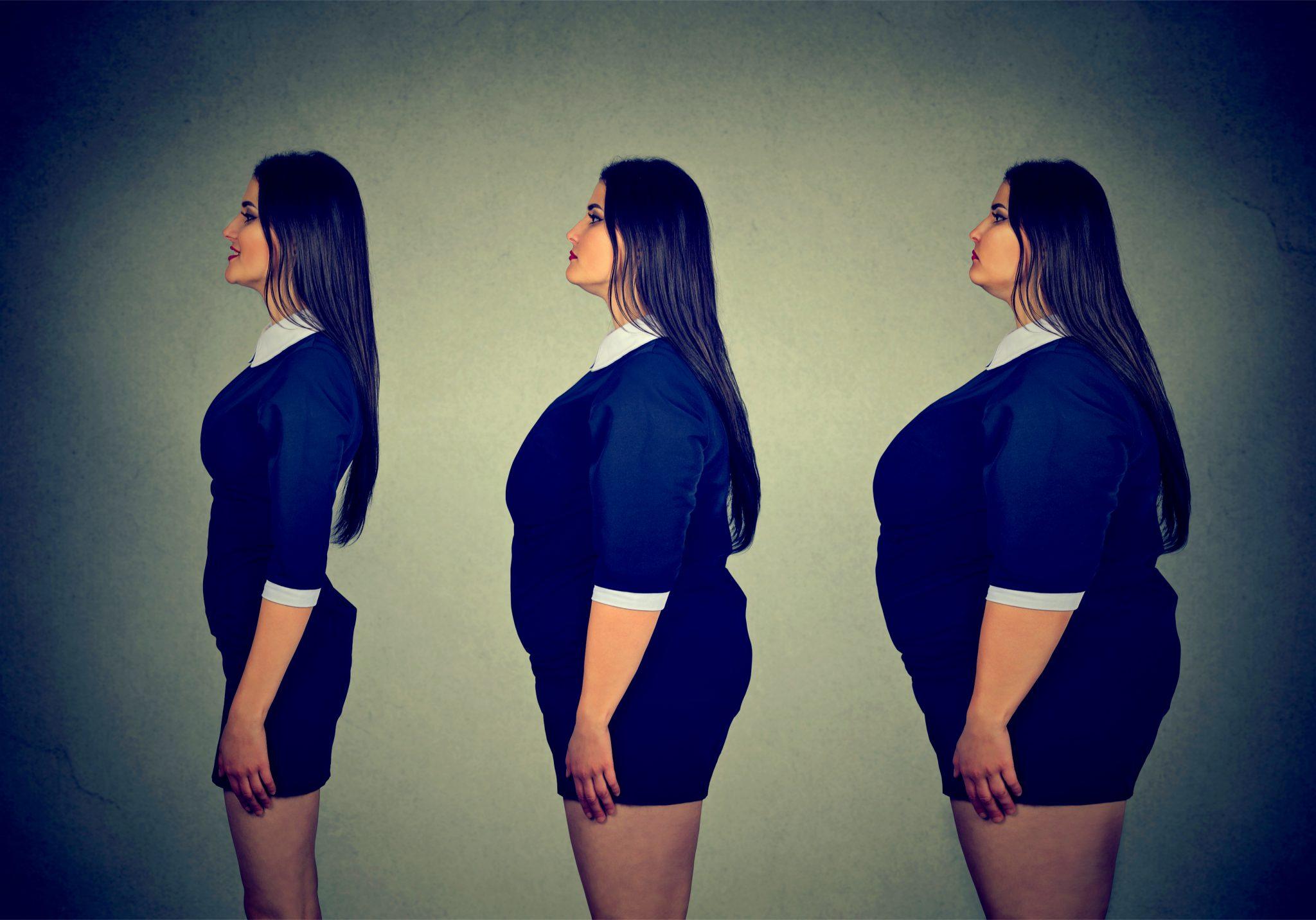 ダイエットした女性の太っている時期からの軌跡