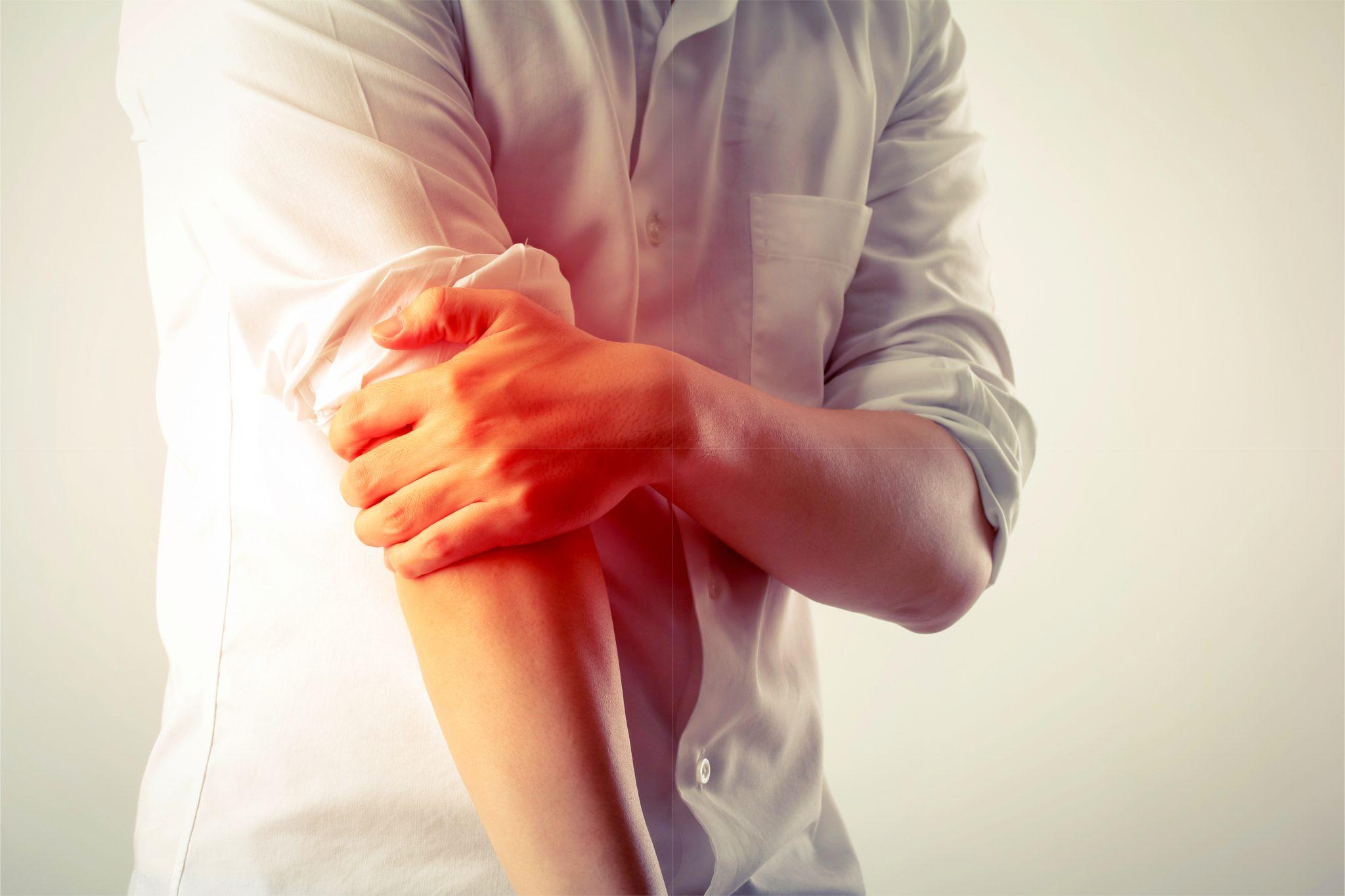 痛風で肘が痛い