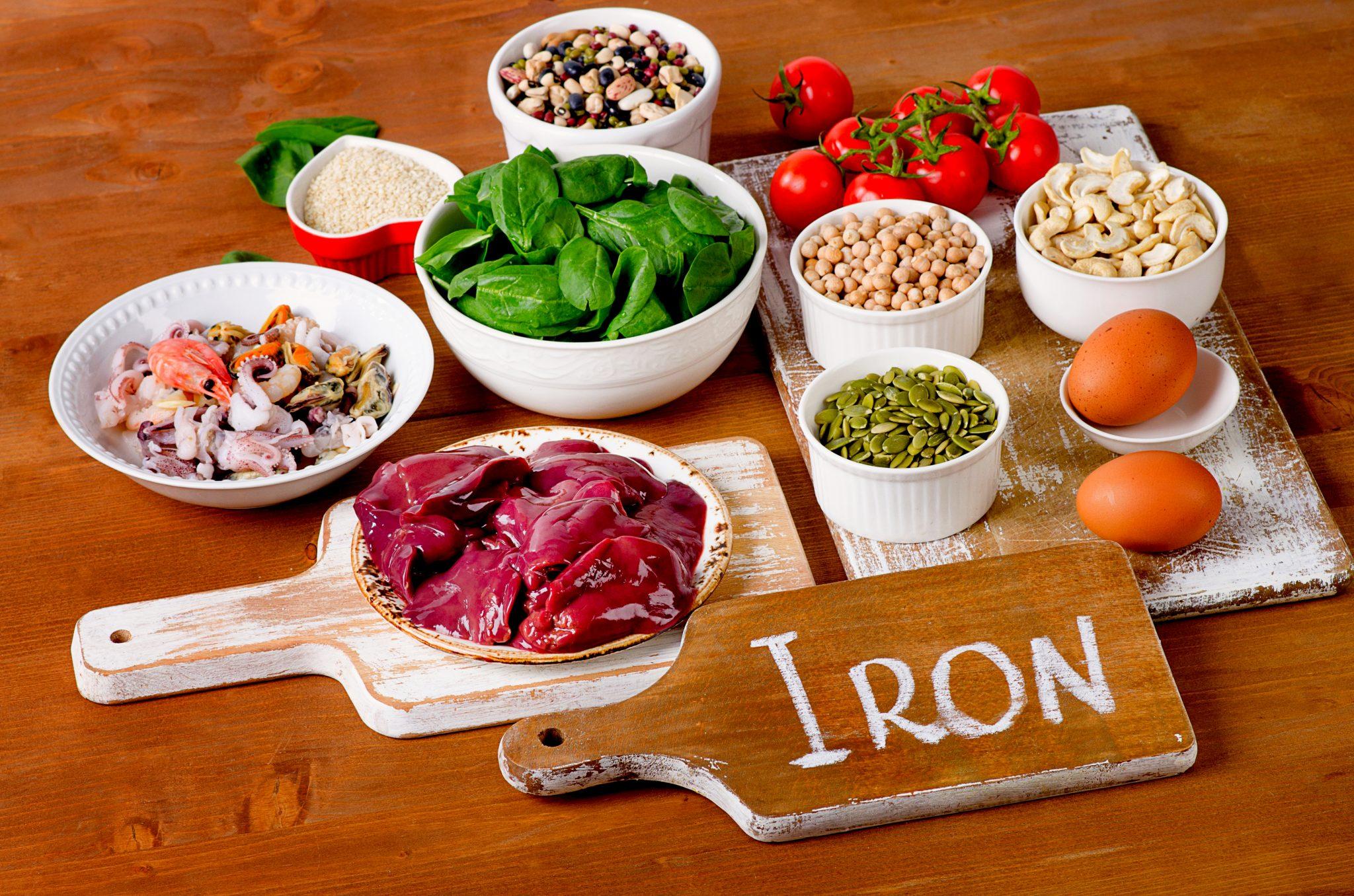 鉄分を多く含む食べ物の写真