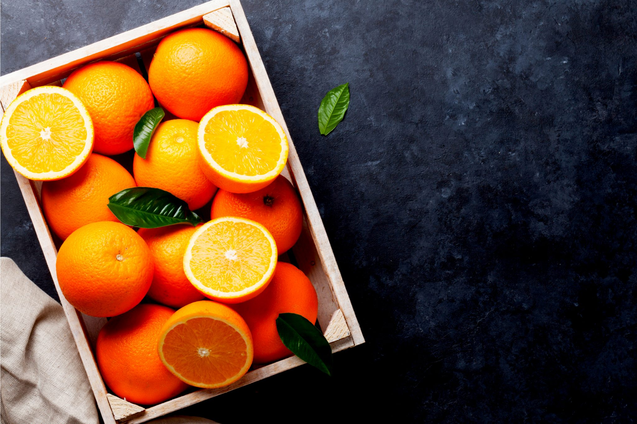 綺麗に切られたオレンジ