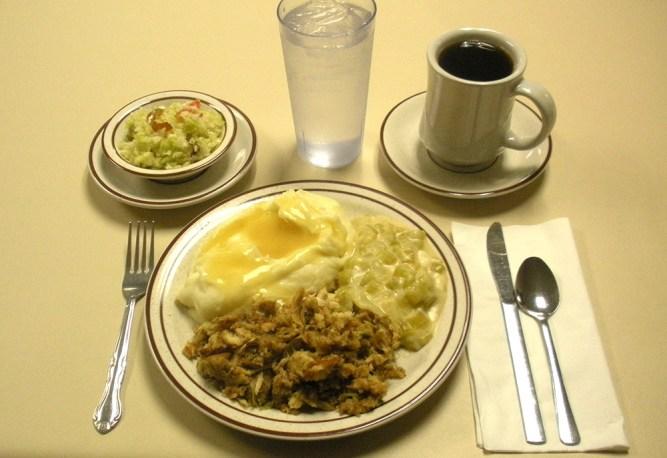 Amish wedding meal