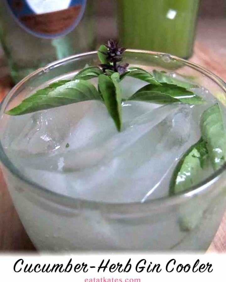 Cucumber-Herb Gin Cooler | eatatkates.com - When life gives you cucumbers, make cucumber-ade. Week 7 of the Farmshare Chronicles, where I work through a farmshare membership and try to stay sane.