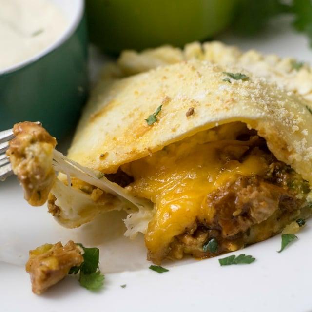 Gluten Free BBQ Chicken Calzones | https://eatatourtable.com
