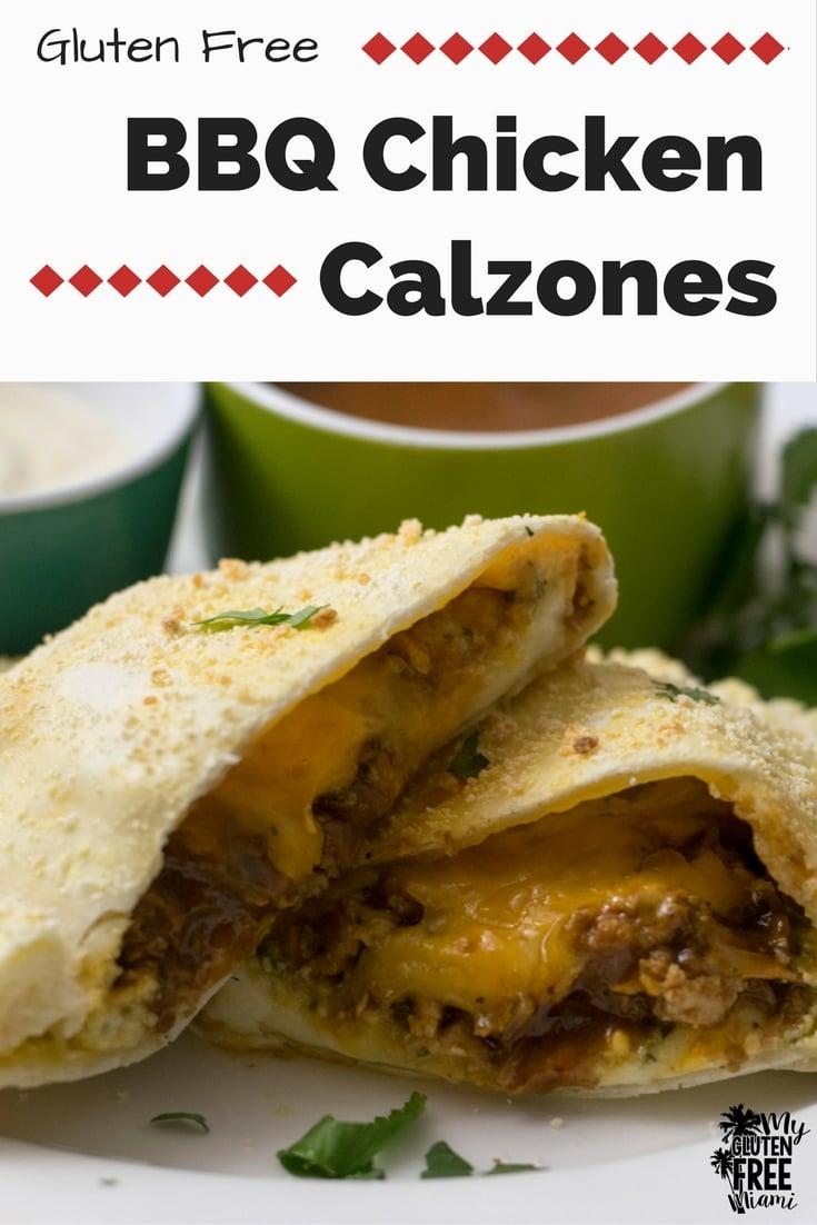 Gluten Free BBQ Chicken Calzone | https://eatatourtable.com