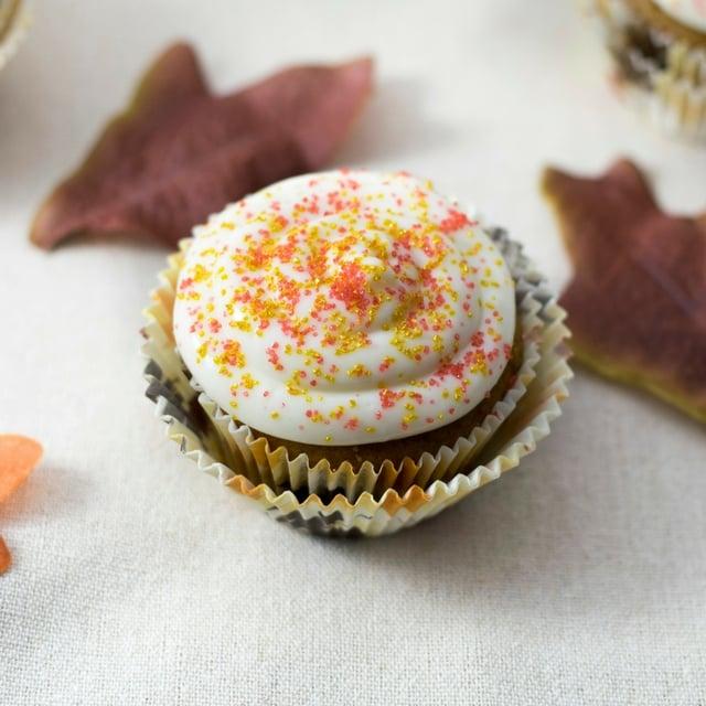 {Gluten Free} Pumpkin Spice Cake & Maple Bourbon Cream Cheese Icing