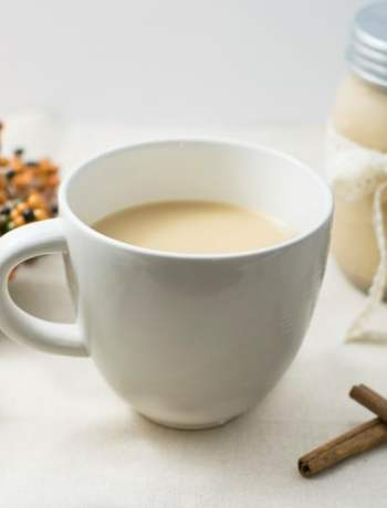 Homemade Pumpkin Spice Coffee Creamer   https://eatatourtable.com