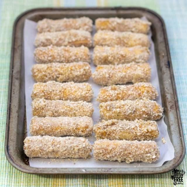 Gluten Free Baked Mozzarella Sticks