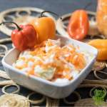 Haitian Pikliz Coleslaw gives a delicious kick to Quinoa topped with First Fresh Chicken Croquettes!