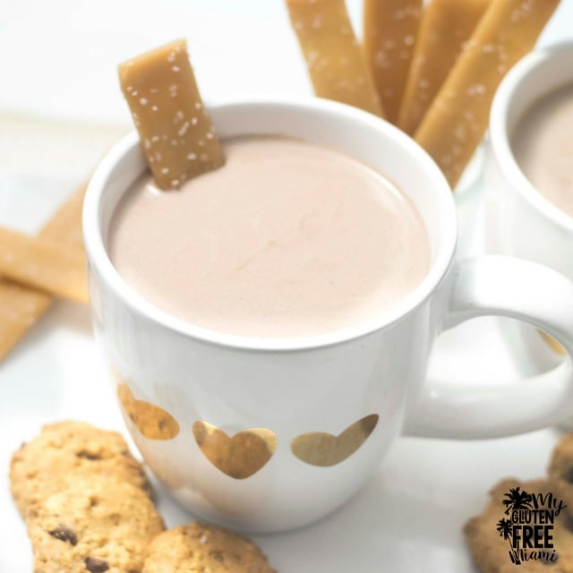 Salted Toffee Sticks with Spiked Hot Chocolate