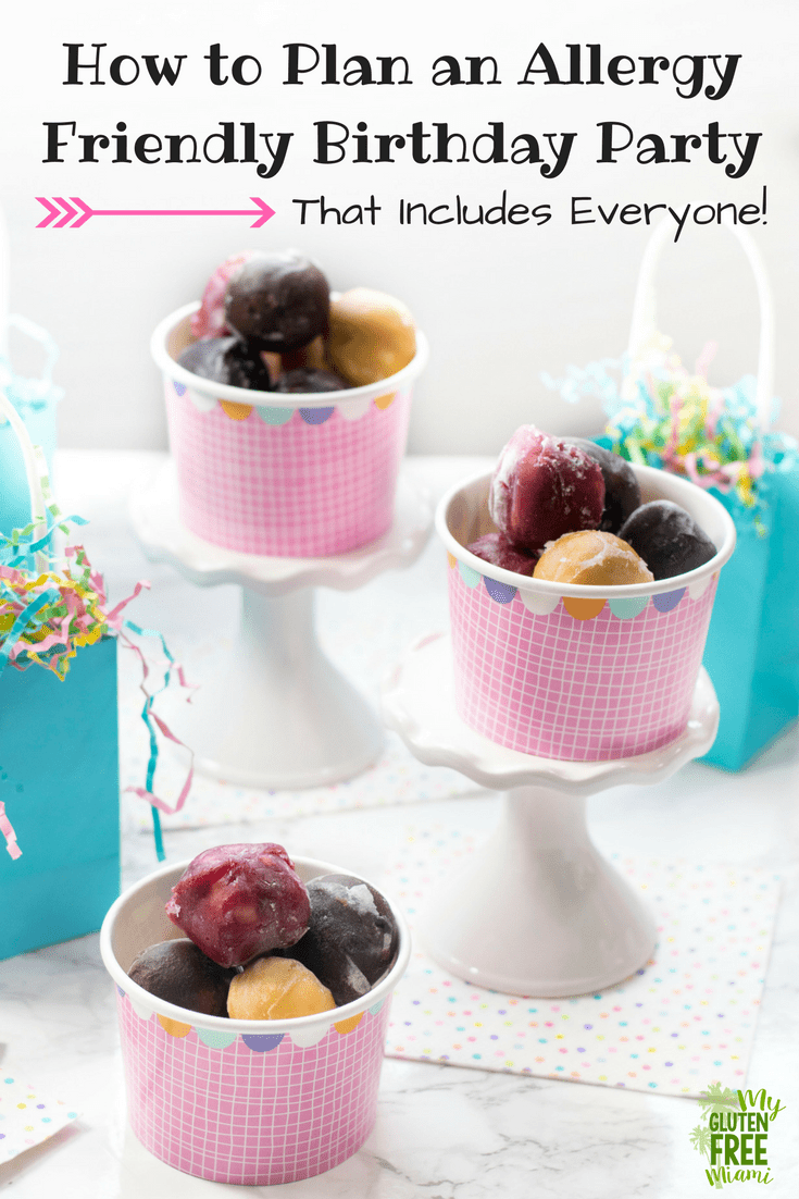 How to Plan an Allergy Friendly Birthday Party