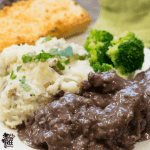 Easy Gluten Free Beef Tips in Red Wine Sauce